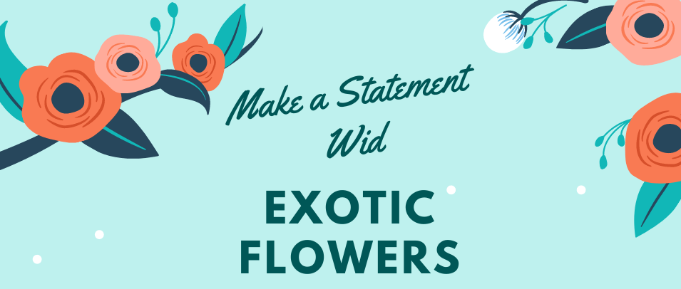 Ways to Make an Impressive Statement with Exotic Flowers
