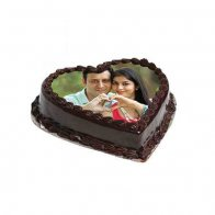 Heart Love Photo Cake