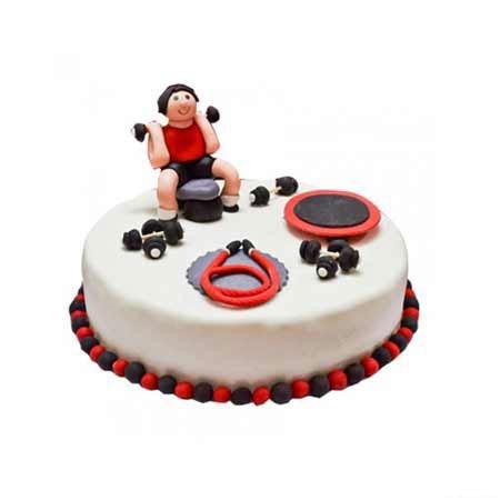Gym Fondant Cake