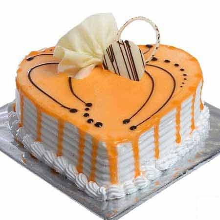 Heart Butterscotch Cake