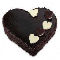 Heart Choco Chips Cake