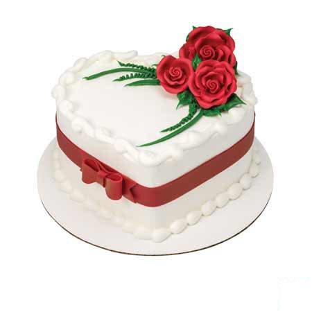 Heart Shape Rose Cake