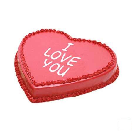 Heart Shape Lovers Cake