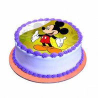 Mickey Mouse Vanilla Cake