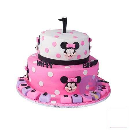 2 Tier Minnie Cake