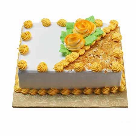 Rectangular Butter Scotch Cake