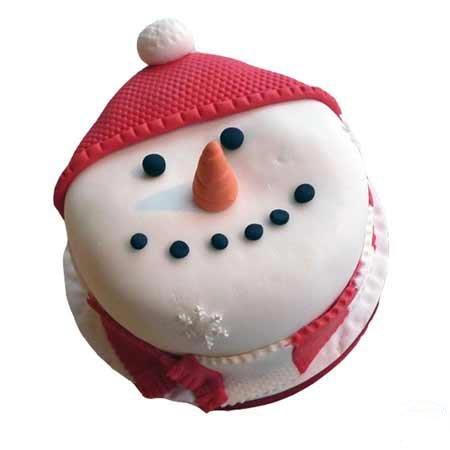 Snowman Fondant Cake