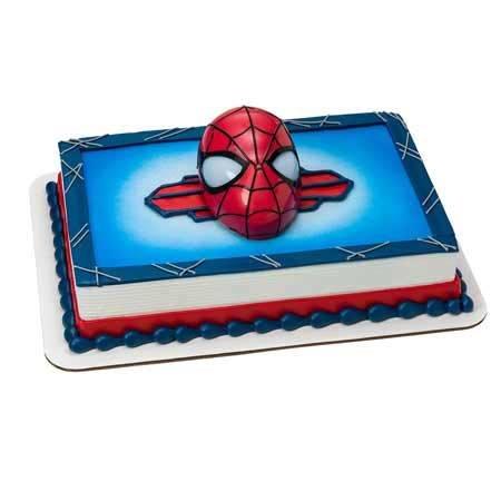 Spider Man Rectangular Cake