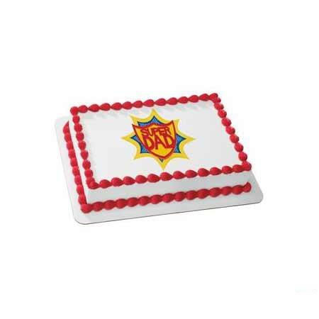 Super Dad Square Cake
