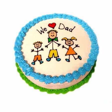We Love Dad Cake