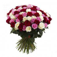 50 Mixed Roses Big Bouquet