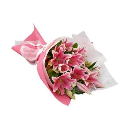 Pink Lilly Bouquet