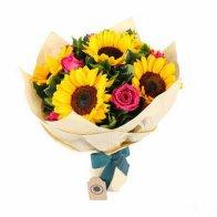 Sunflower & Rose Bouquet