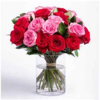 Lovely Red & Pink Rose Vase