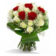Red & White Roses Bouquet