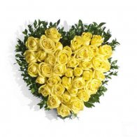 Yellow Rose Heart Bouquet