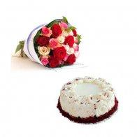 Roses & Red Velvet Cake