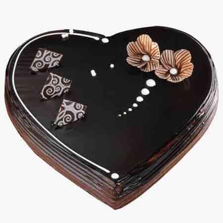 Dark Heart Shaped Cake
