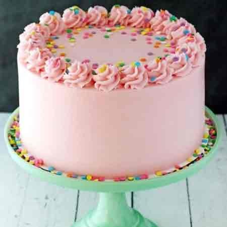 Pink Vanilla Cake