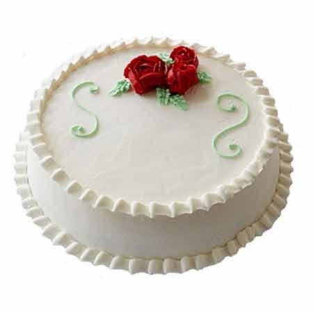 White Forest Rose Cake