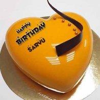 Mango Heart Cake