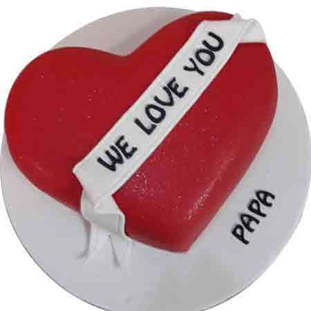 Fathers Day Heart Shape Cake