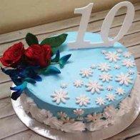 Rose Vanilla Cake