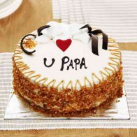 Luv u Papa Butterscotch Cake