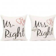 Mr. & Mrs. Right Cushions