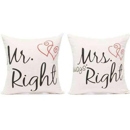 Mr. & Mrs. Right Cushions