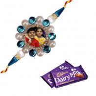 Pic Rakhi with Chocolates