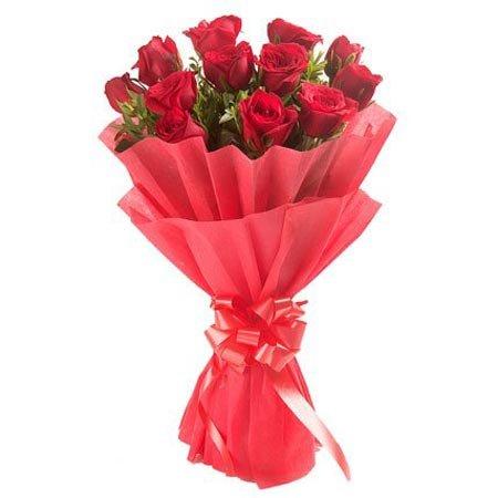 Vivid Rose Flowers Bouquet