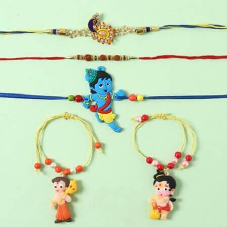 Family Rakhi Set of 5