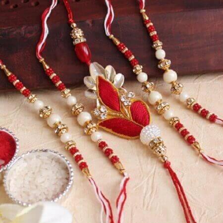 Set of 5 Sundar Rakhis