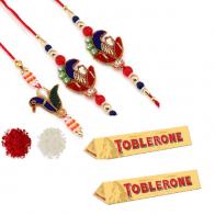 Designer Rakhi with Chocolates