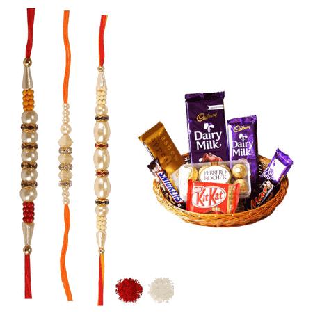 Rakhi Set with Chocolate Hamper