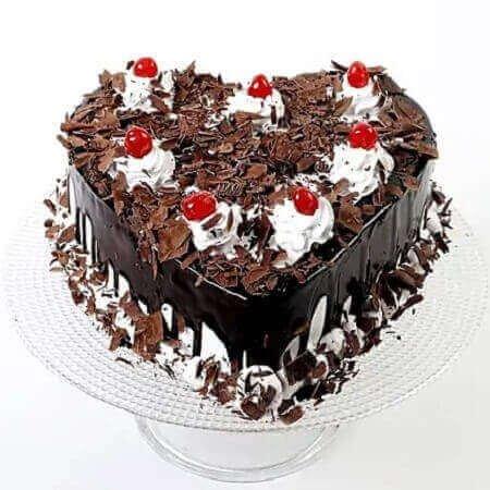 Black Heart Forest Cake