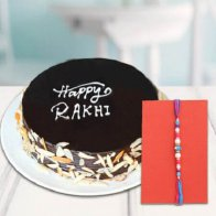 Fancy Rakhi & Chocolate Cake