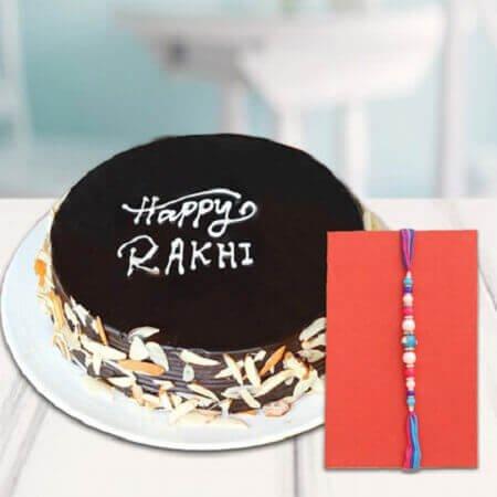Fancy Rakhi & Chocolate Cake
