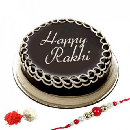 Rakhi N Chocolate Cake
