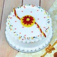 Rakhi with Vanilla Cake