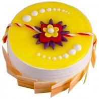 Vanilla Rakhi Cake Combo