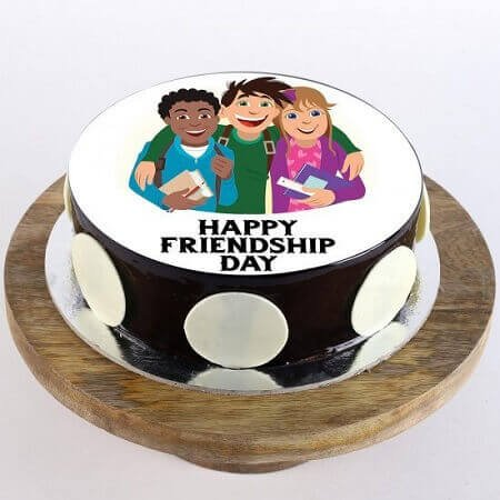 Friends Photo Chocolate Cake