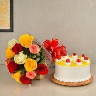 Mixed Rose & Pineapple Cake