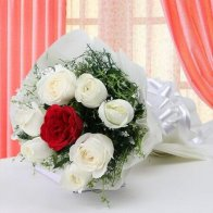Red in White Bouquet