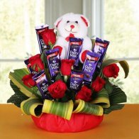 Love Rose n Choco Bouquet