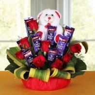 Love Rose n Choco Bouquet