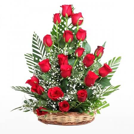 Roses in Tower Basket