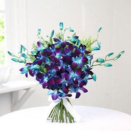 Blue Orchids Bouquet