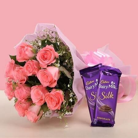 Pink Bouquet Surprise